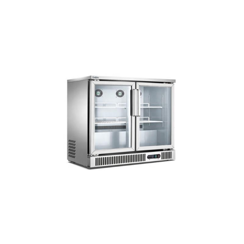 Migsa (BE-SG-250) Refrigerador Back Bar de 2 puertas de cristal 250 Lts