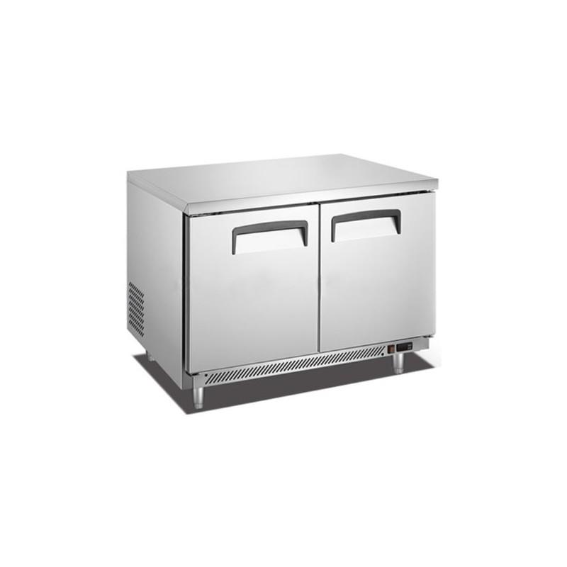 Migsa (BE-UC-48C-2) Mesa fría refrigerada de 2 puertas de 340 Lts