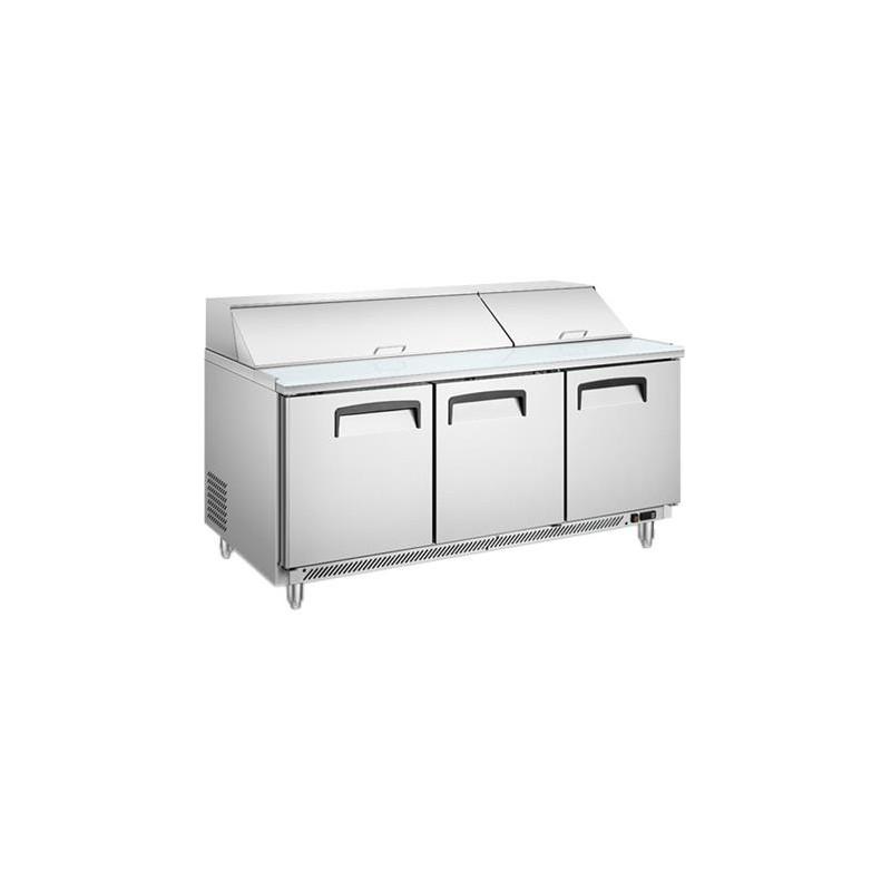 Migsa (BE-SCL-3) Mesa fría para ensaladas de 3 puerta 510 Lts tipo Americano