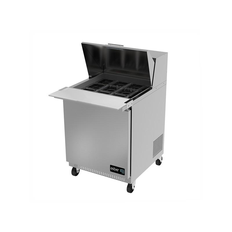Mesa refrigerada preparación Mega-Top Asber APTM-27-12