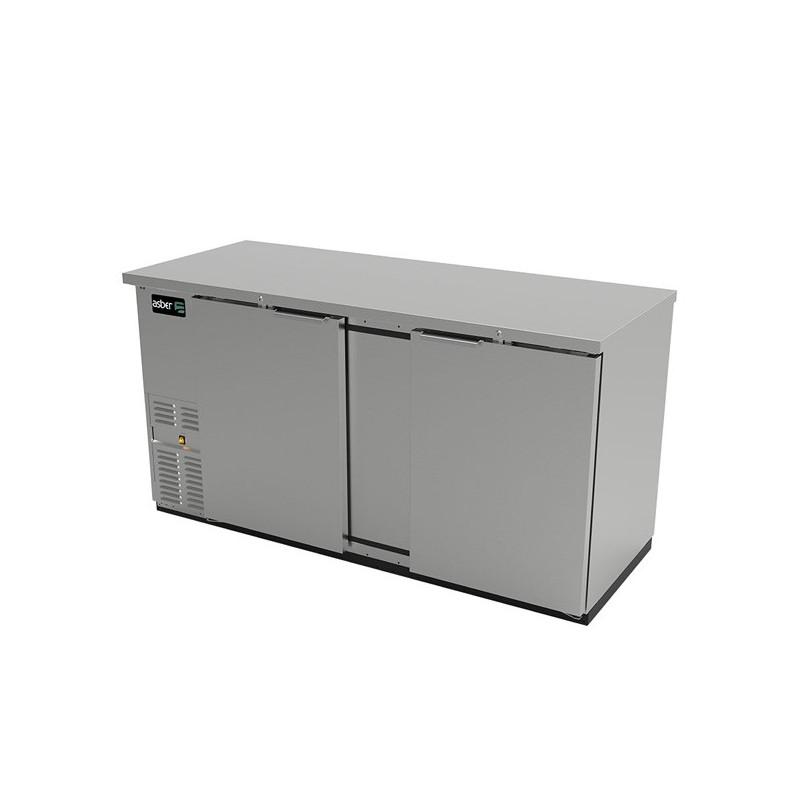 Refrigerador contrabarra 2 puertas sólidas Asber (ABBC-68-S-HC)
