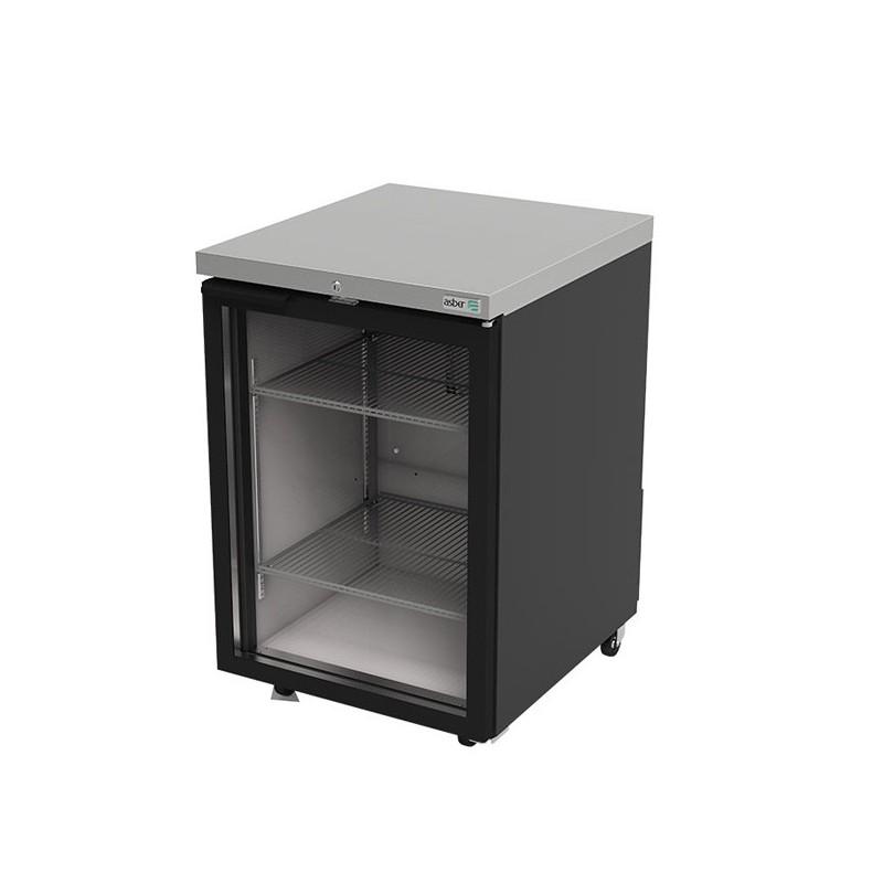 Refrigerador contra barra 1 puerta cristal Asber (ABBC-23G-HC)