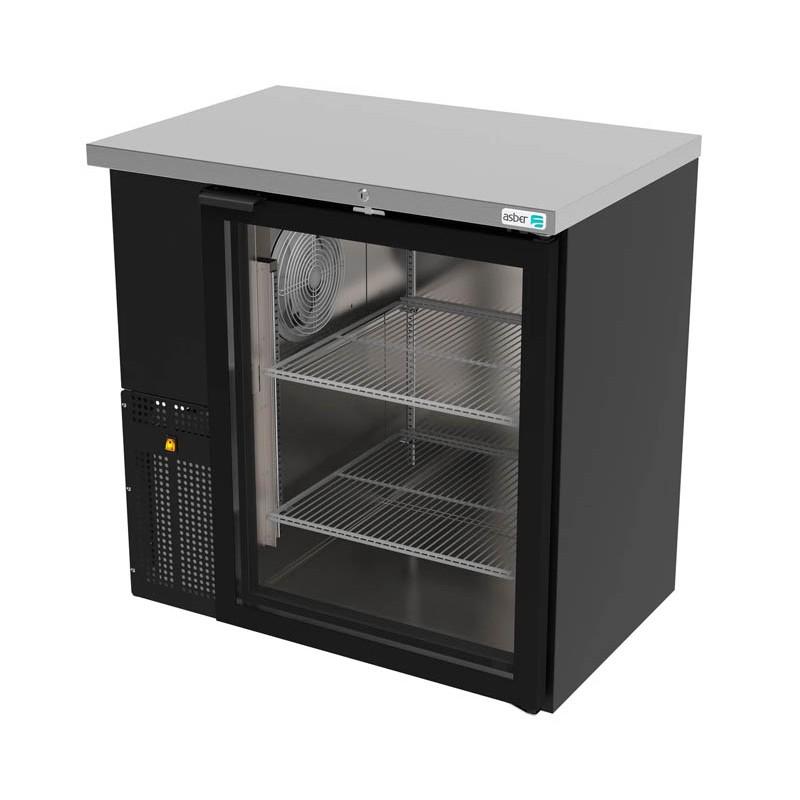 Refrigerador contrabarra 1 puerta cristal Asber (ABBC-24-36-G-HC)