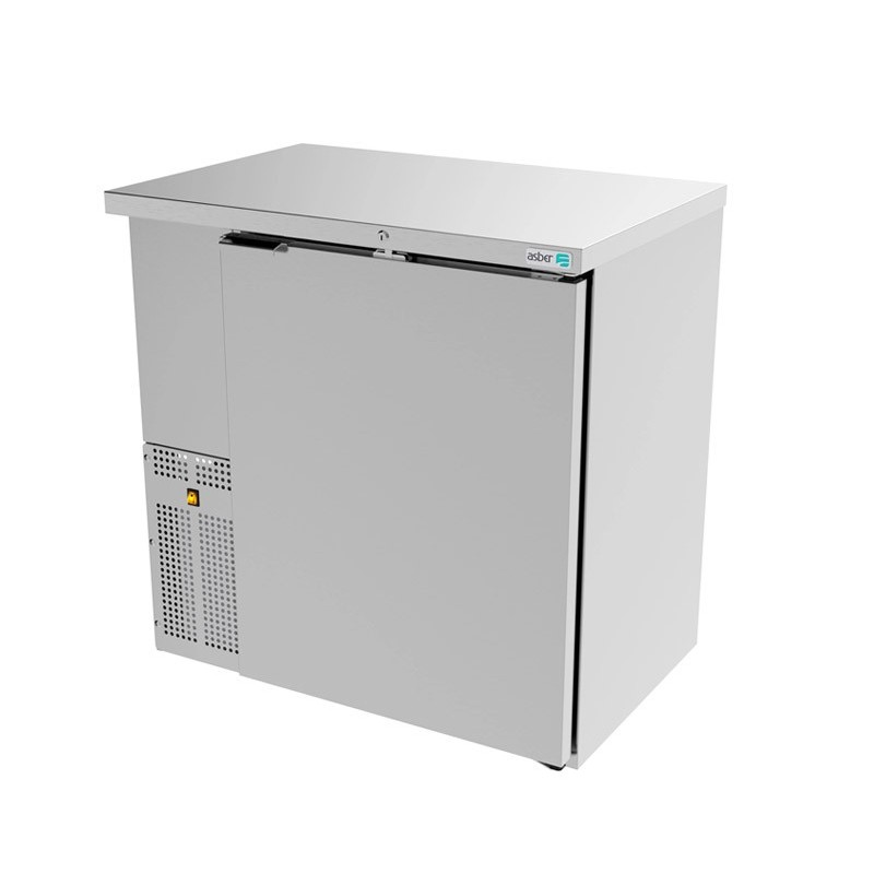 Refrigerador contra barra 1 puerta sólida ASBER (ABBC-24-36-S-HC)