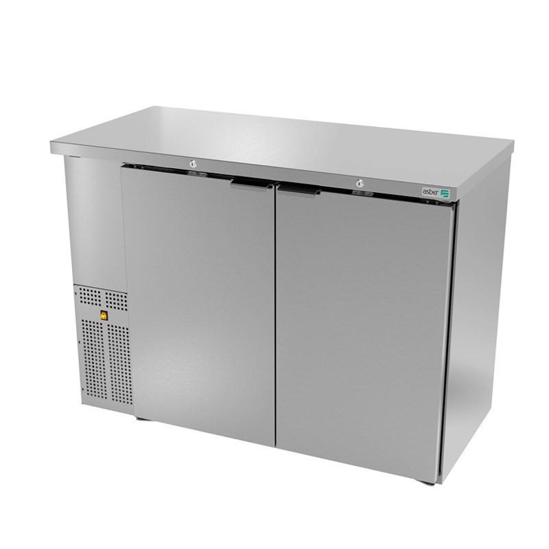 Refrigerador contrabarra 2 puertas sólidas ASBER (ABBC-24-48-S-HC)