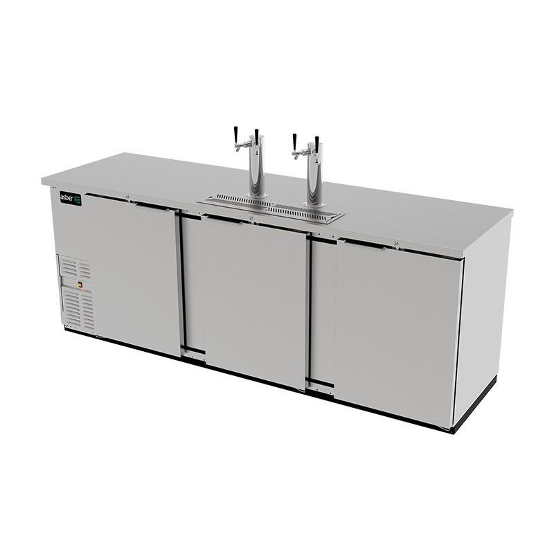 Dispensador cerveza 3 Puertas sólidas Asber (ADDC-94-S-HC)