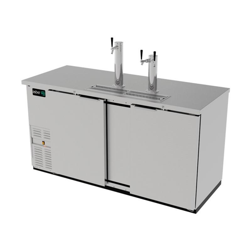 Dispensador cerveza 2 Puertas sólidas Asber (ADDC-68-S-HC)