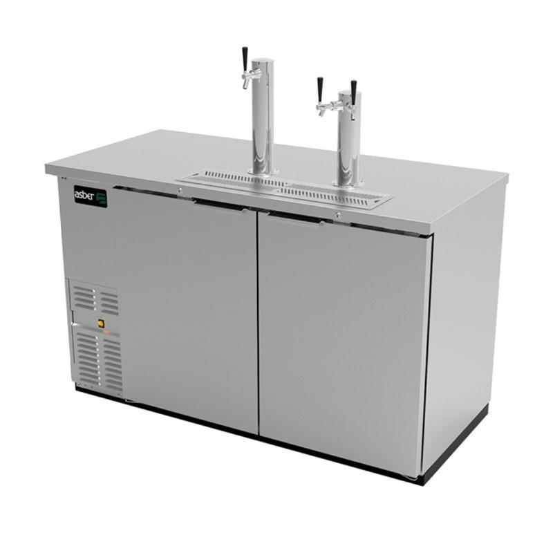 Dispensador cerveza 2 Puertas sólidas Asber (ADDC-58-S-HC)