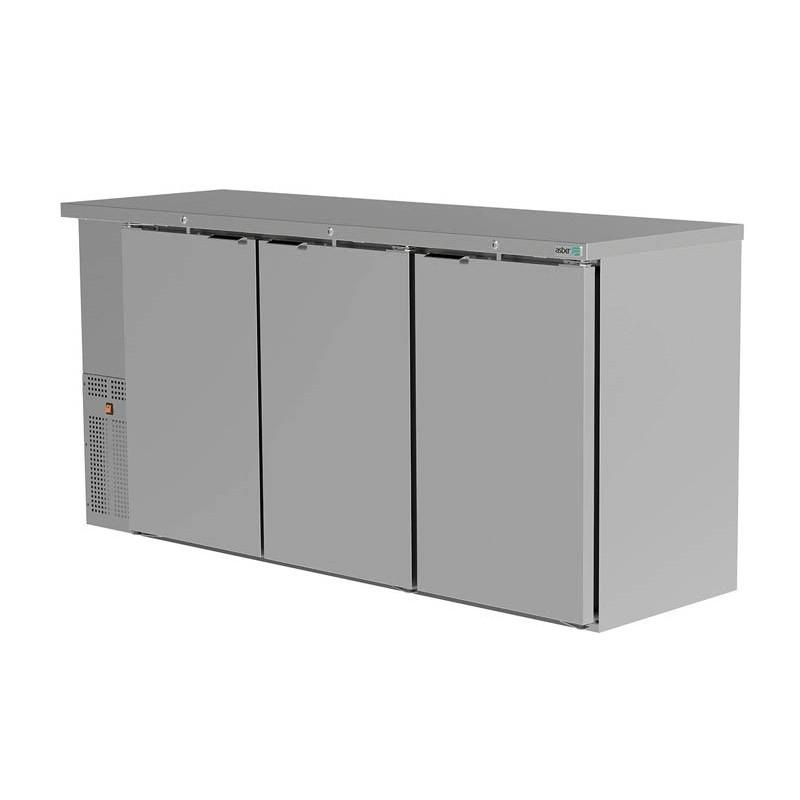 Asber (ABBC-24-72-S-HC) Refrigerador contrabarra 3 puertas sólidas