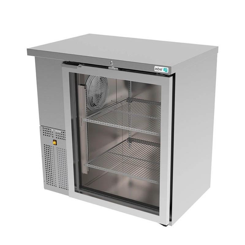 ASBER (ABBC-24-36-SG-HC) Refrigerador contrabarra 1 puerta cristal