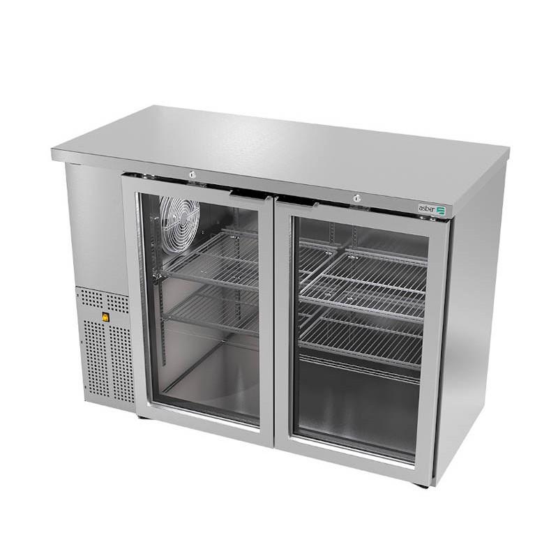 ASBER (ABBC-24-48-SG-HC) Refrigerador contrabarra 2 puertas cristal