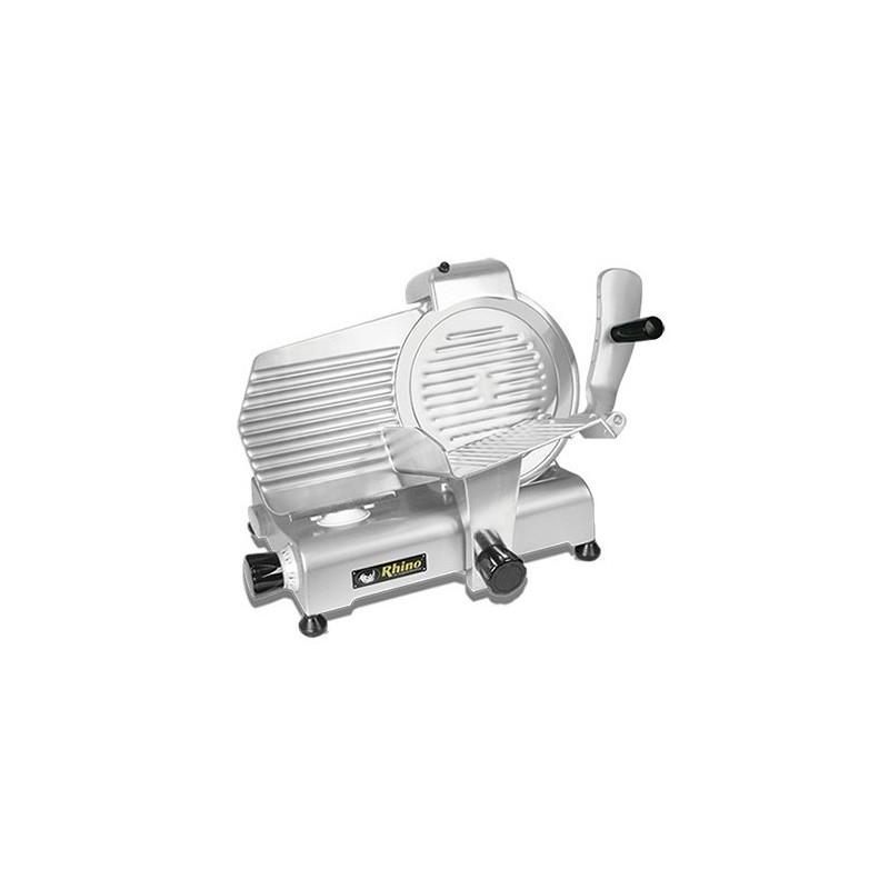 Rebanadora de carnes frías Rhino SLI-250 Aluminio anodizado